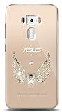 Asus ZenFone 3 ZE552KL Angel Death Taşlı Kılıf
