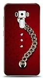 Asus ZenFone 3 ZE552KL Ring Shine Taşlı Metal Askılı Kılıf