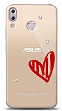 Asus ZenFone 5 ZE620KL 3 Taş Love Kılıf