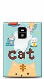 BlackBerry Passport Üç Boyutlu Sevimli Kedi Kılıf