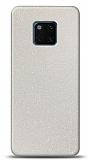 Dafoni Huawei Mate 20 Pro Beyaz Parlak Simli Telefon Kaplama