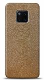 Dafoni Huawei Mate 20 Pro Gold Parlak Simli Telefon Kaplama