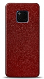 Dafoni Huawei Mate 20 Pro Kırmızı Parlak Simli Telefon Kaplama