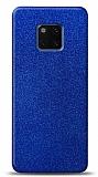 Dafoni Huawei Mate 20 Pro Mavi Parlak Simli Telefon Kaplama