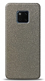 Dafoni Huawei Mate 20 Pro Silver Parlak Simli Telefon Kaplama