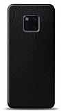 Dafoni Huawei Mate 20 Pro Siyah Deri Görünümlü Telefon Kaplama