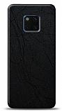 Dafoni Huawei Mate 20 Pro Siyah Electro Deri Görünümlü Telefon Kaplama