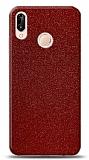 Dafoni Huawei P20 Lite Kırmızı Parlak Simli Telefon Kaplama