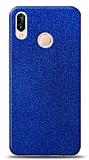 Dafoni Huawei P20 Lite Mavi Parlak Simli Telefon Kaplama