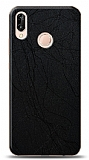 Dafoni Huawei P20 Lite Siyah Electro Deri Görünümlü Telefon Kaplama