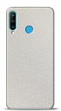 Dafoni Huawei P30 Lite Beyaz Parlak Simli Telefon Kaplama