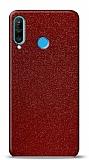 Dafoni Huawei P30 Lite Kırmızı Parlak Simli Telefon Kaplama
