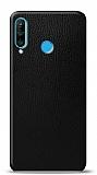 Dafoni Huawei P30 Lite Siyah Deri Görünümlü Telefon Kaplama