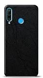 Dafoni Huawei P30 Lite Siyah Electro Deri Görünümlü Telefon Kaplama