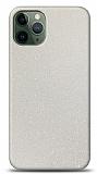 Dafoni iPhone 11 Pro Max Beyaz Parlak Simli Telefon Kaplama