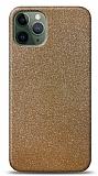 Dafoni iPhone 11 Pro Max Gold Parlak Simli Telefon Kaplama