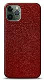 Dafoni iPhone 11 Pro Max Kırmızı Parlak Simli Telefon Kaplama