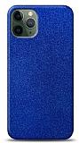 Dafoni iPhone 11 Pro Max Mavi Parlak Simli Telefon Kaplama