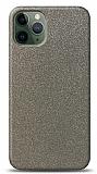 Dafoni iPhone 11 Pro Max Silver Parlak Simli Telefon Kaplama