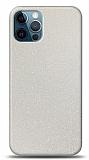 Dafoni iPhone 12 / iPhone 12 Pro 6.1 inç Beyaz Parlak Simli Telefon Kaplama