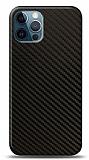 Dafoni iPhone 12 / iPhone 12 Pro 6.1 inç Karbon Görünümlü Telefon Kaplama