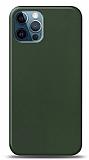 Dafoni iPhone 12 / iPhone 12 Pro 6.1 inç Mat Yeşil Telefon Kaplama