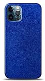 Dafoni iPhone 12 / iPhone 12 Pro 6.1 inç Mavi Parlak Simli Telefon Kaplama