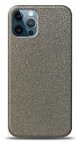 Dafoni iPhone 12 / iPhone 12 Pro 6.1 inç Silver Parlak Simli Telefon Kaplama