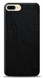 Dafoni iPhone 7 Plus / 8 Plus Siyah Electro Deri Görünümlü Telefon Kaplama