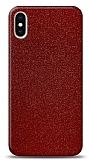 Dafoni iPhone X / XS Kırmızı Parlak Simli Telefon Kaplama