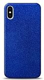 Dafoni iPhone X / XS Mavi Parlak Simli Telefon Kaplama
