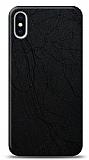 Dafoni iPhone XS Max Siyah Electro Deri Görünümlü Telefon Kaplama
