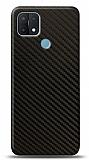 Dafoni Oppo A15s Karbon Görünümlü Telefon Kaplama