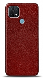 Dafoni Oppo A15s Kırmızı Parlak Simli Telefon Kaplama