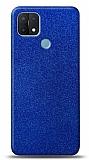 Dafoni Oppo A15s Mavi Parlak Simli Telefon Kaplama