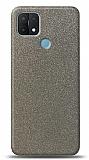 Dafoni Oppo A15s Silver Parlak Simli Telefon Kaplama
