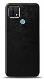 Dafoni Oppo A15s Siyah Deri Görünümlü Telefon Kaplama