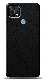 Dafoni Oppo A15s Siyah Electro Deri Görünümlü Telefon Kaplama