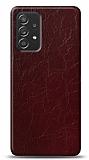 Dafoni Samsung Galaxy A52 Bordo Electro Deri Görünümlü Telefon Kaplama