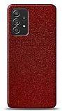 Dafoni Samsung Galaxy A52 Kırmızı Parlak Simli Telefon Kaplama
