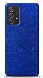 Dafoni Samsung Galaxy A52 Mavi Parlak Simli Telefon Kaplama