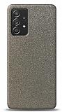 Dafoni Samsung Galaxy A52 Silver Parlak Simli Telefon Kaplama