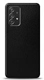 Dafoni Samsung Galaxy A52 Siyah Deri Görünümlü Telefon Kaplama