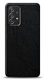 Dafoni Samsung Galaxy A52 Siyah Electro Deri Görünümlü Telefon Kaplama