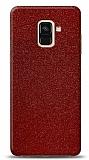 Dafoni Samsung Galaxy A6 2018 Kırmızı Parlak Simli Telefon Kaplama
