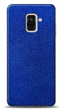 Dafoni Samsung Galaxy A6 2018 Mavi Parlak Simli Telefon Kaplama