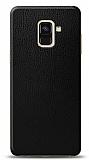Dafoni Samsung Galaxy A6 2018 Siyah Deri Görünümlü Telefon Kaplama