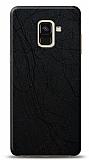 Dafoni Samsung Galaxy A6 2018 Siyah Electro Deri Görünümlü Telefon Kaplama