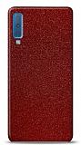 Dafoni Samsung Galaxy A7 2018 Kırmızı Parlak Simli Telefon Kaplama