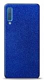 Dafoni Samsung Galaxy A7 2018 Mavi Parlak Simli Telefon Kaplama